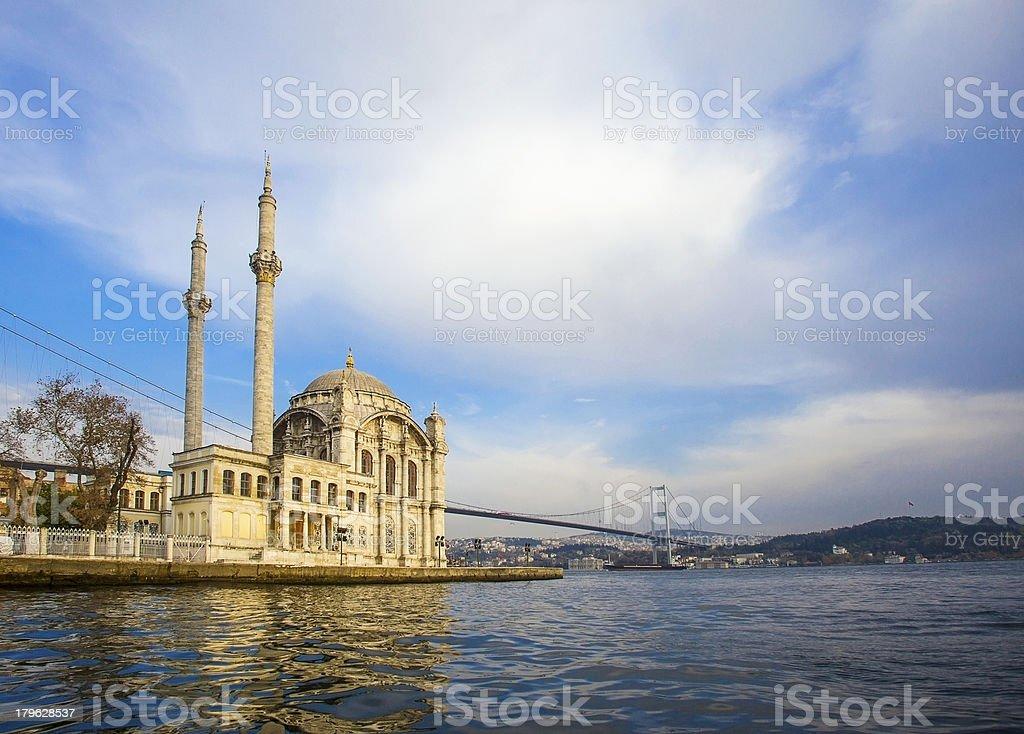 Ortakoy Mosque - Istanbul royalty-free stock photo