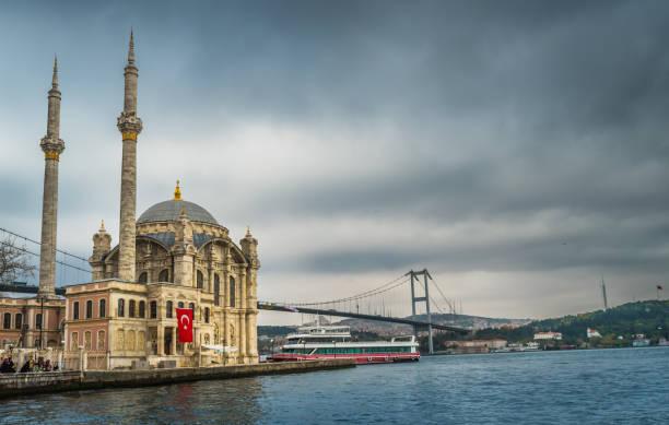 Ortakoy Mosque, Istanbul, Turkey stock photo