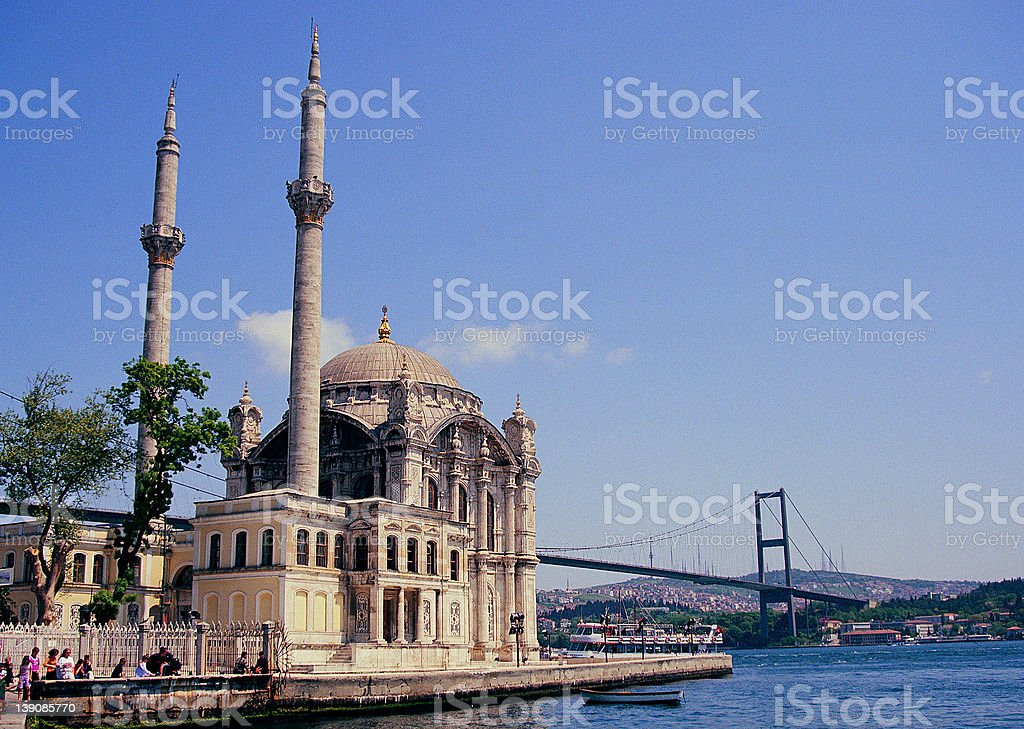 Ortakoy Mosque royalty-free stock photo