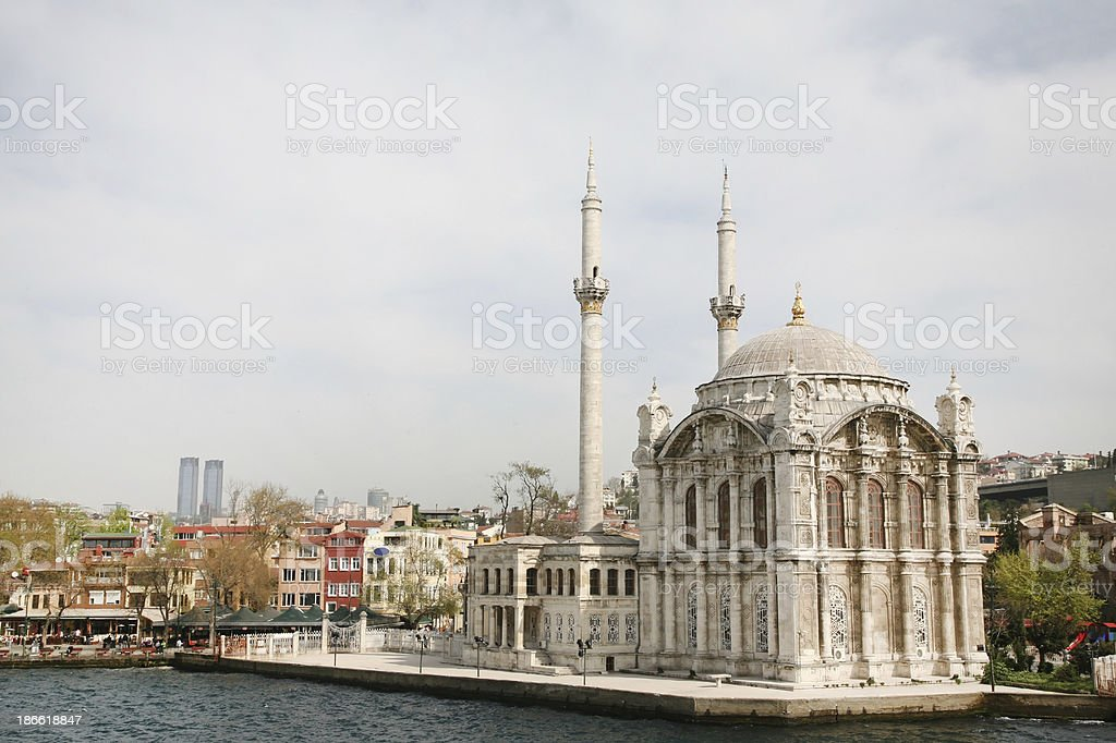 Ortakoy Mosque royalty-free stock photo