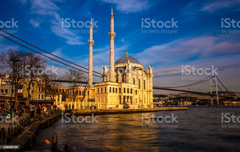 Ortaköy Mosque istanbul royalty-free stock photo