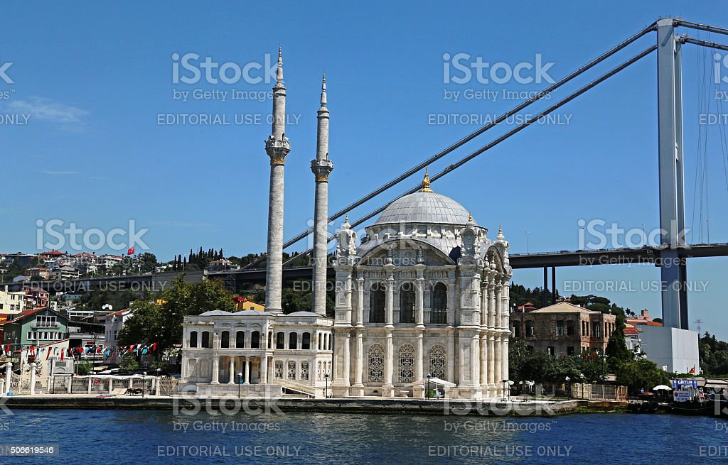 Ortaköy Mosque Sideview stock photo