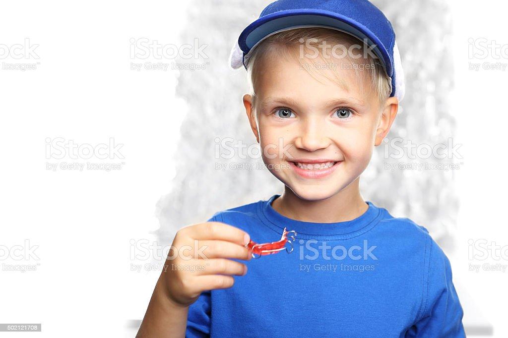 Orthodontic appliance, schönen Lächeln eines Kindes Lizenzfreies stock-foto