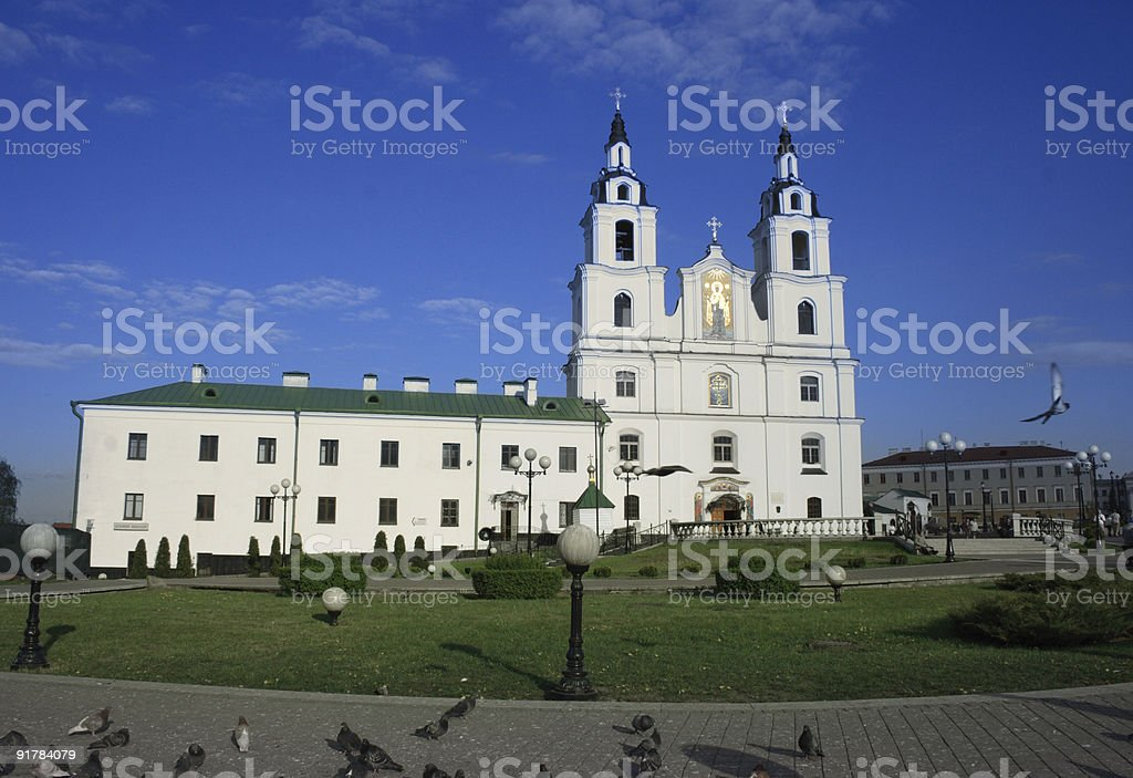 Orthodox Cathedral in Minsk, Belarus royalty-free stock photo