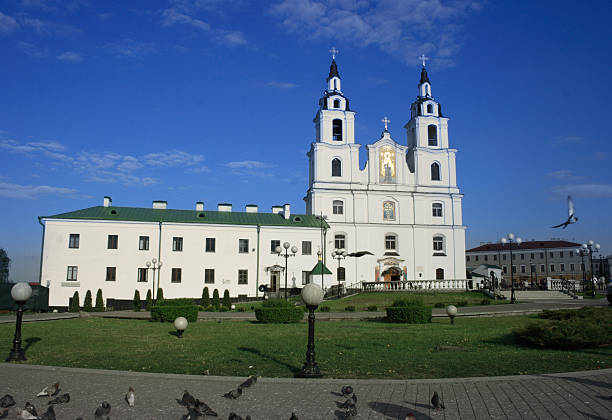 Orthodox Cathedral in Minsk, Belarus stock photo
