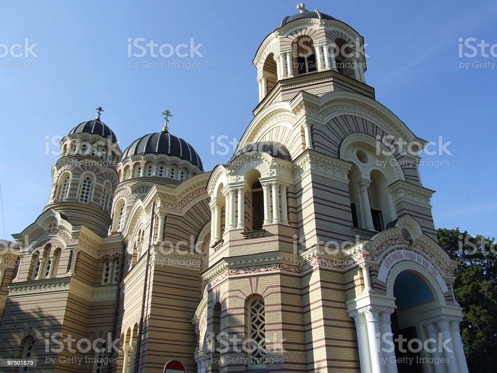 Orthodox Cathedral in Riga royalty-free stock photo