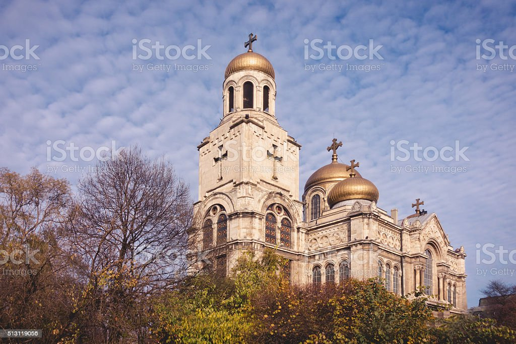 Orthodox Cathedral of the Assumption of the Virgin in Varna, Bulgaria. stock photo