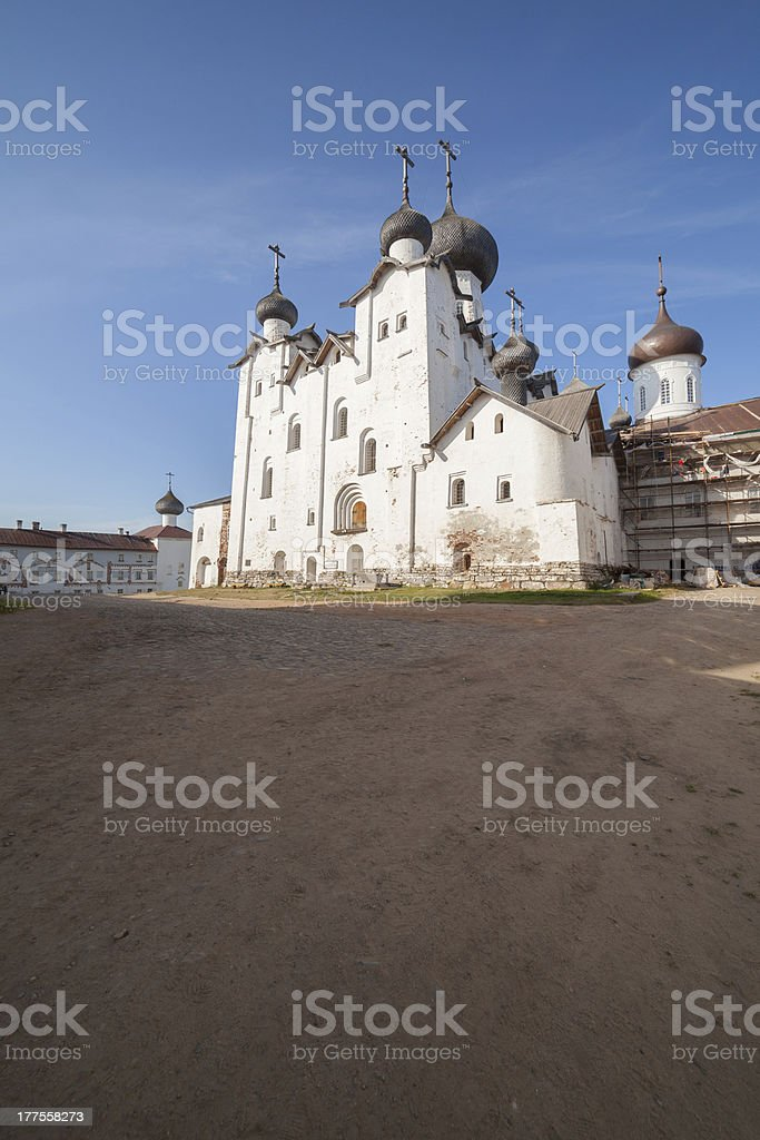 orthodox cathedral, Solovetsky man's monastery stock photo