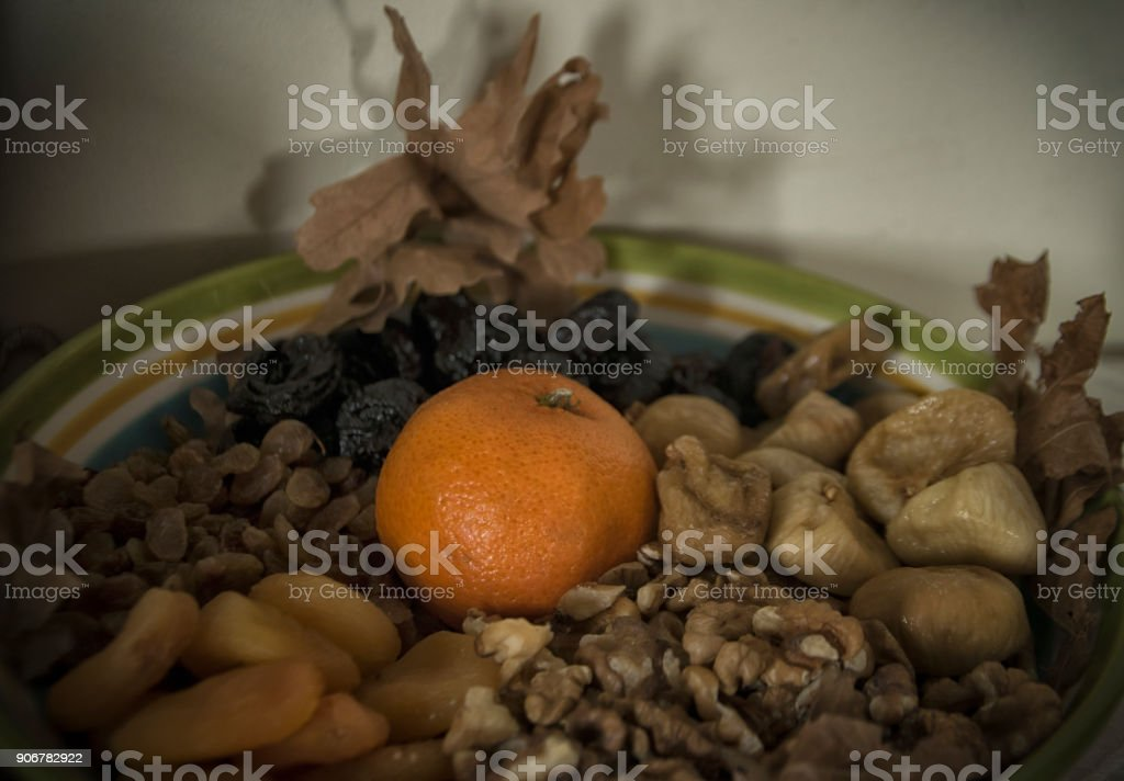 Orthodox Christmas Eve Setup stock photo