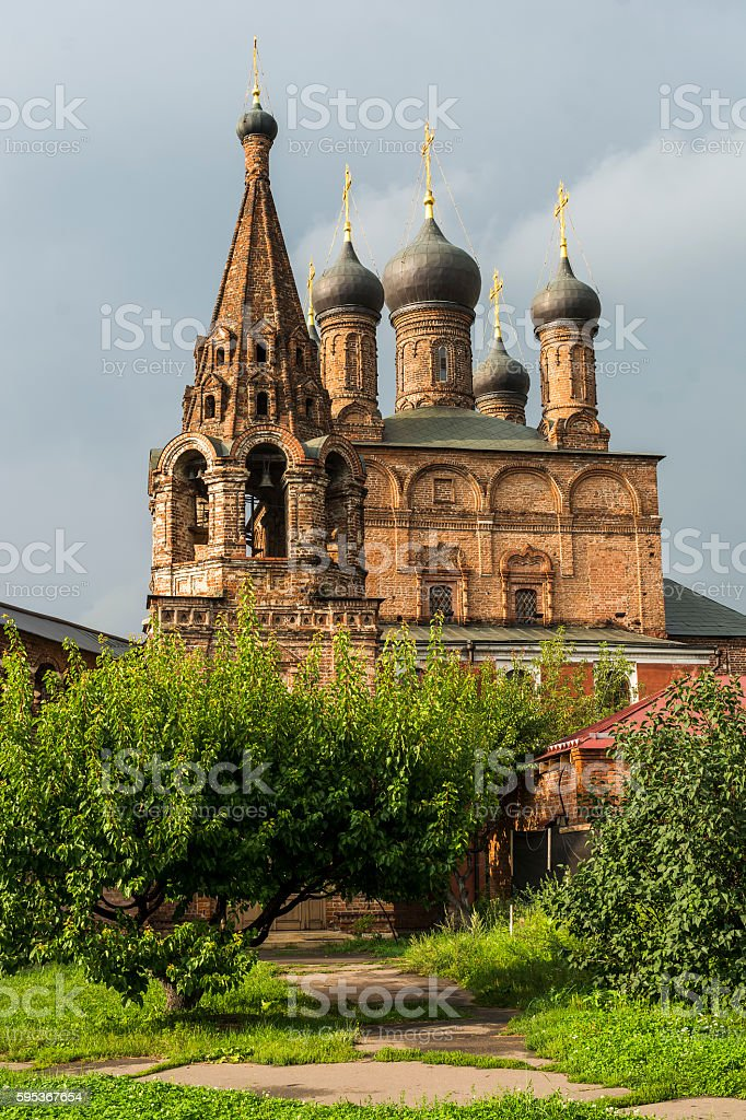 Orthodox Church against a beautiful sky with clouds, Russia, Moscow stock photo