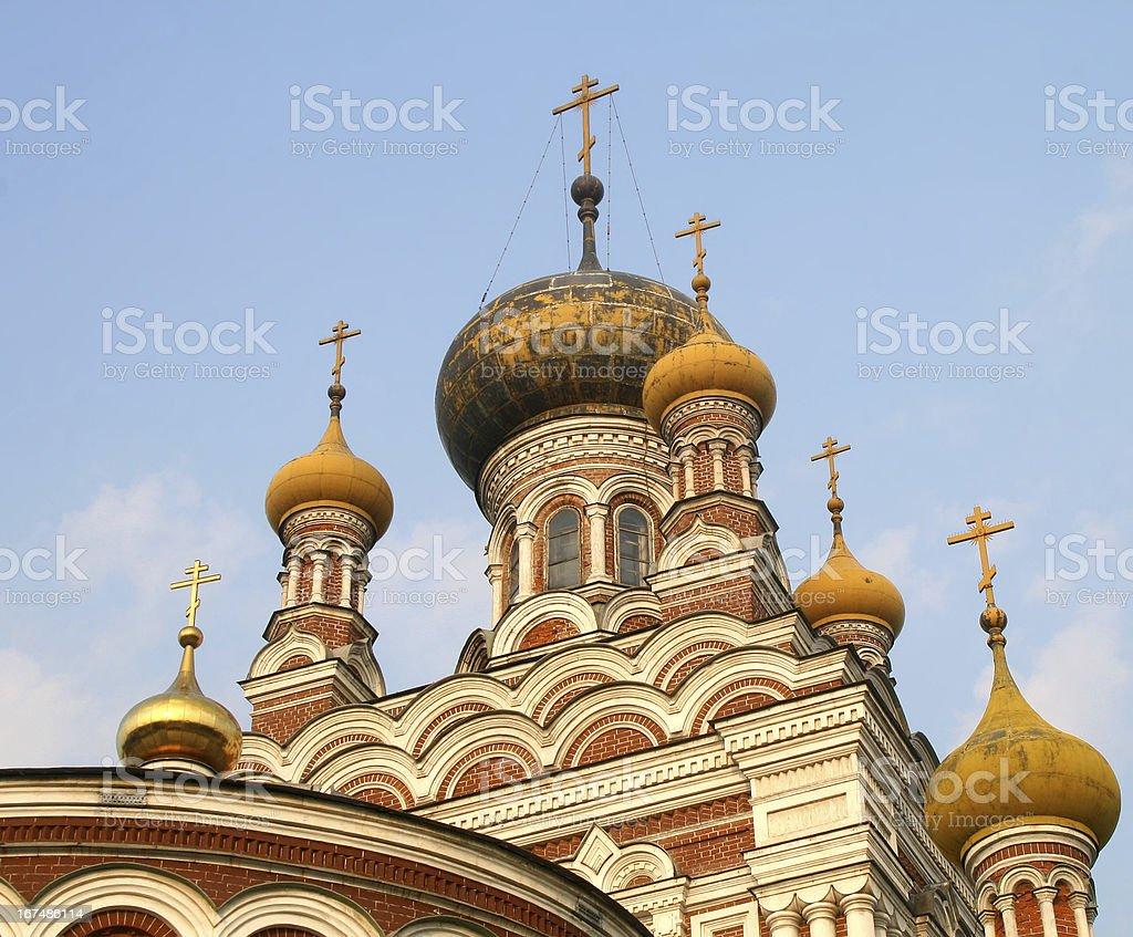 Orthodox church cupola royalty-free stock photo