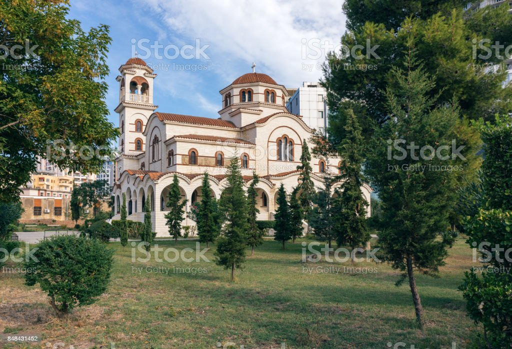 Orthodox church, Durres, Albania stock photo