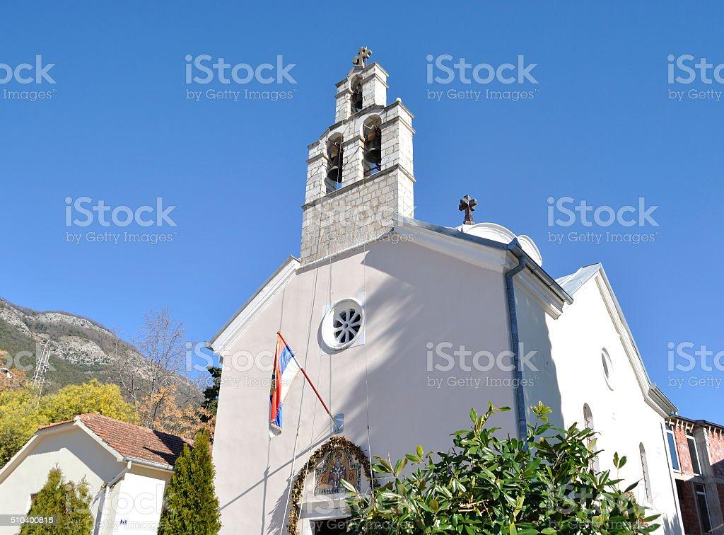 Orthodox Church in Djenovoci town stock photo