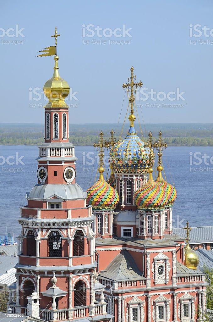 Orthodox church in Nizhny Novgorod stock photo