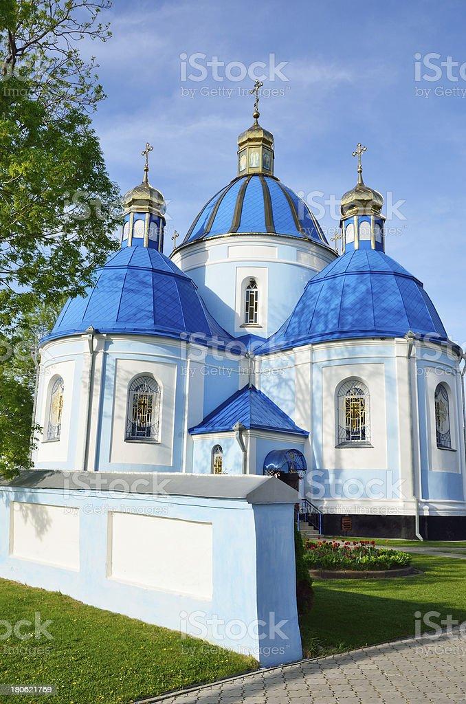 Orthodox church in the Ukrainian town Novovolynsk royalty-free stock photo