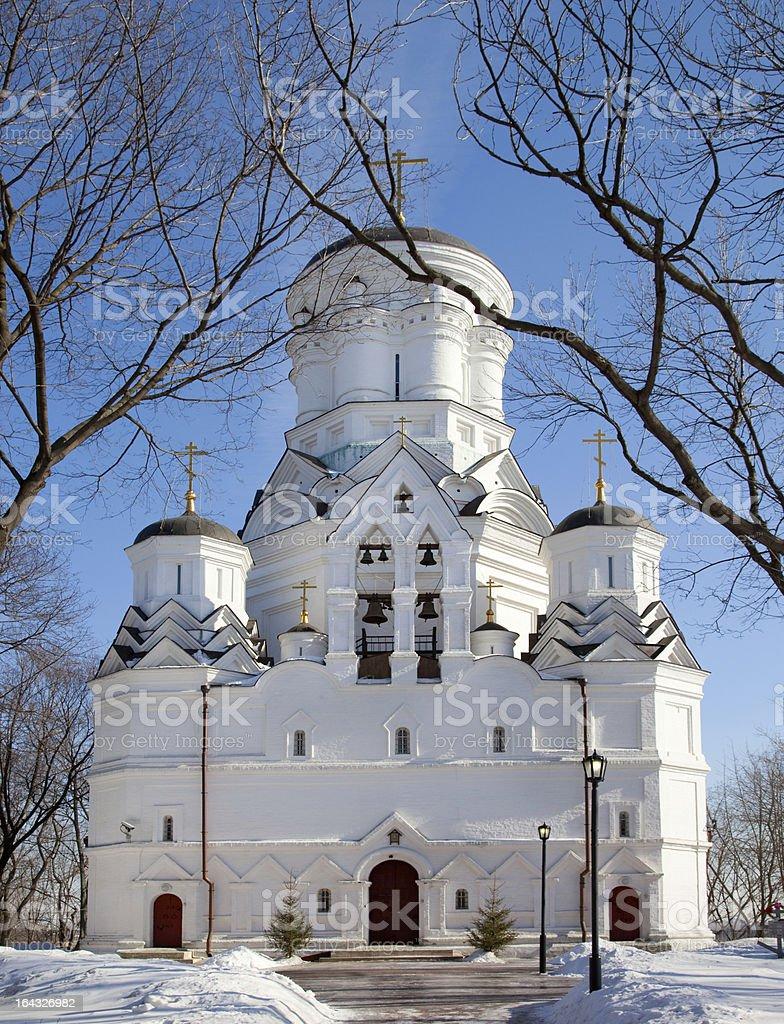 Orthodox Church in winter royalty-free stock photo