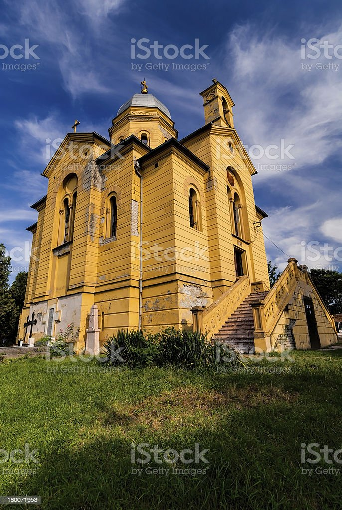 Orthodox Church of St. Dimitrije in Zemun, Belgrade stock photo