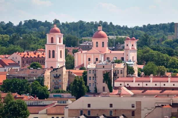 Orthodox Church of the Holy Spirit in Vilnius stock photo