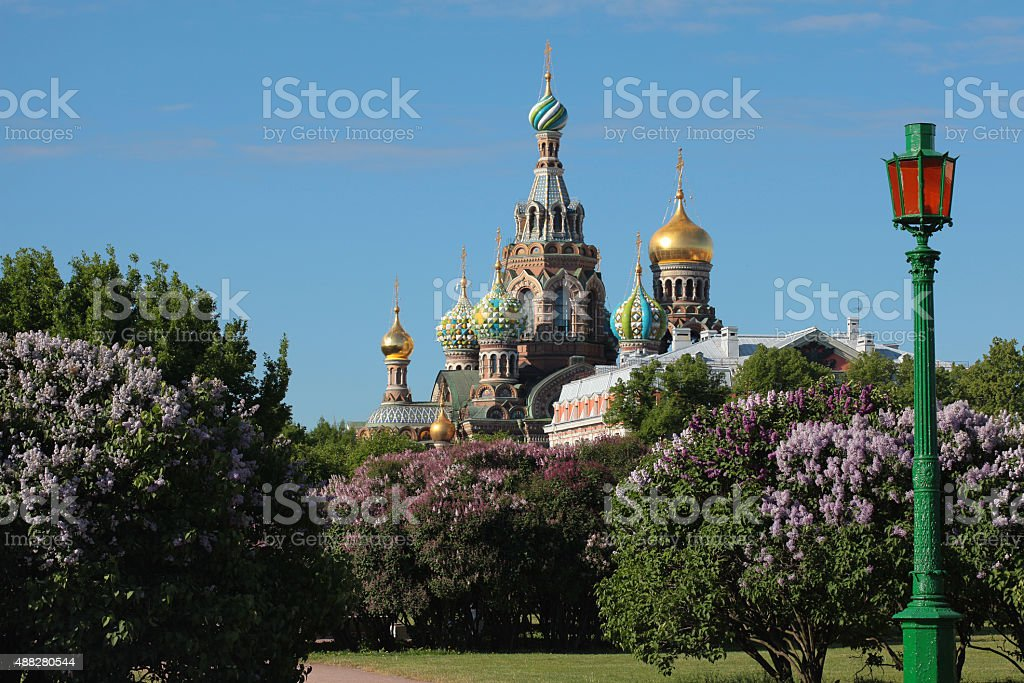 Orthodox Church of the Savior on blood. Saint-Petersburg, Russia stock photo