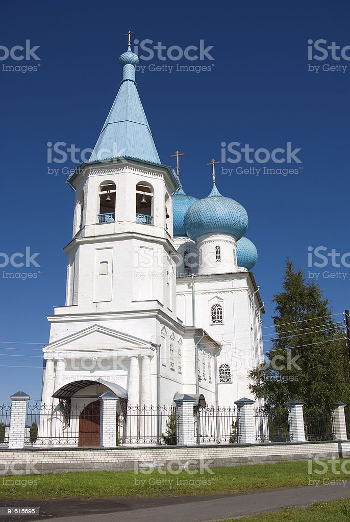 Orthodox church.Arkhangelsk royalty-free stock photo