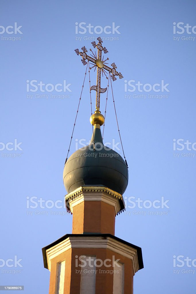 Orthodox cross royalty-free stock photo