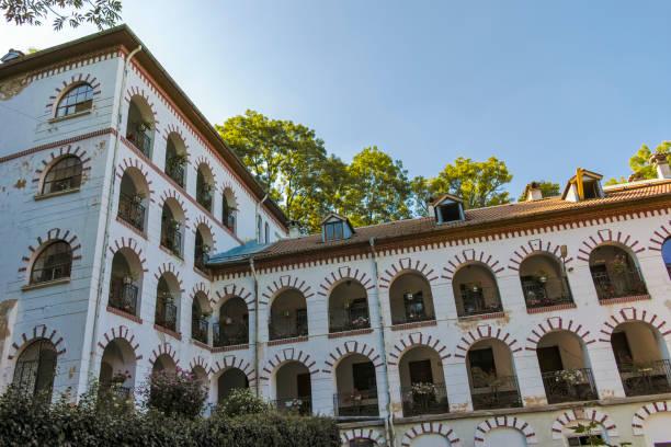 Vitosha Dağı'ndaki Ortodoks Dragalevtsi manastırı stok fotoğrafı