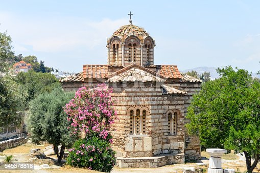 istock Orthodox Greek church in the Ancient Agora - Athens, Greece 545378816