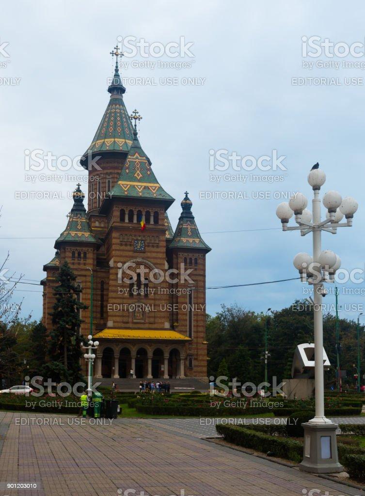Orthodox Metropolitan Cathedral, Timisoara stock photo