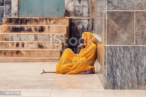 istock orthodox priest in Axum. Aksum, Ethiopia 1185491289
