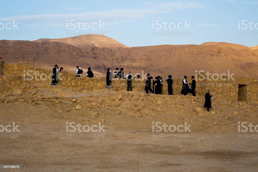 Orthodoy jews in Masada – Foto