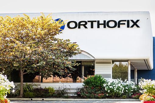 Sep 26, 2020 Santa Clara / CA / USA - Orthofix headquarters in Silicon Valley; Orthofix Medical Inc. operates as a medical device and biologics company