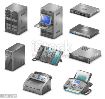 istock Orthographic Networking Diagram Icons 182372495