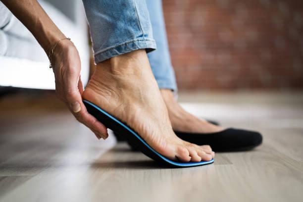 Orthopedic Shoe Sole For Flat Foot stock photo
