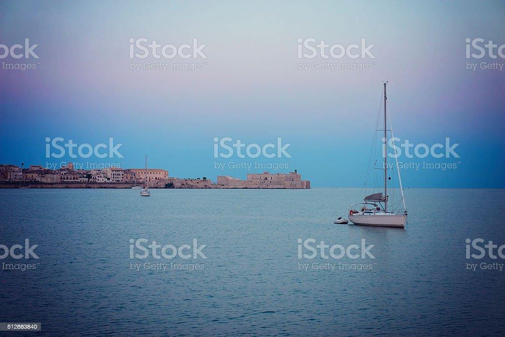 Ortigia, in Sicily stock photo