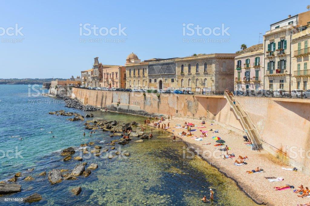 Ortigia Insel in Syrakus, Sizilien, Italien - Lizenzfrei Alt Stock-Foto