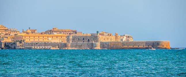 Ortigia Insel In Syrakus Sizilien Italien Stockfoto und ...