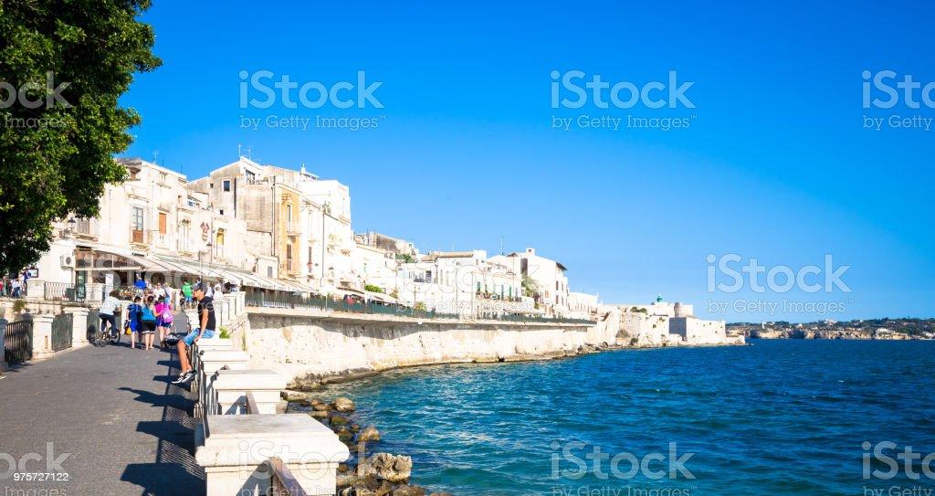 Ortigia Ansicht an einem Sommertag - Lizenzfrei Alt Stock-Foto