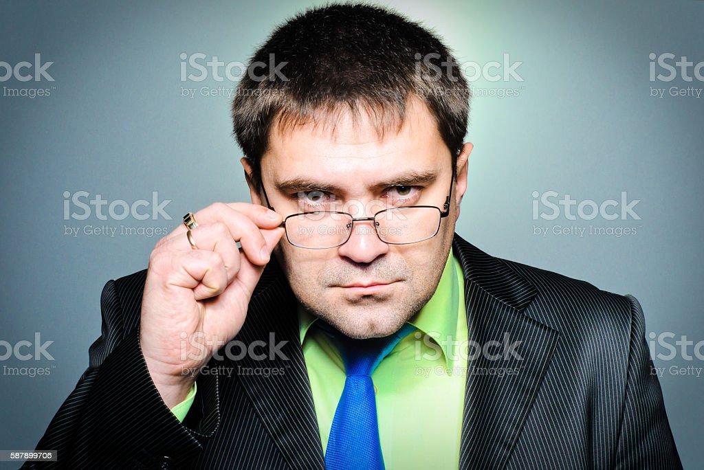 Рortrait of successful businessman stock photo