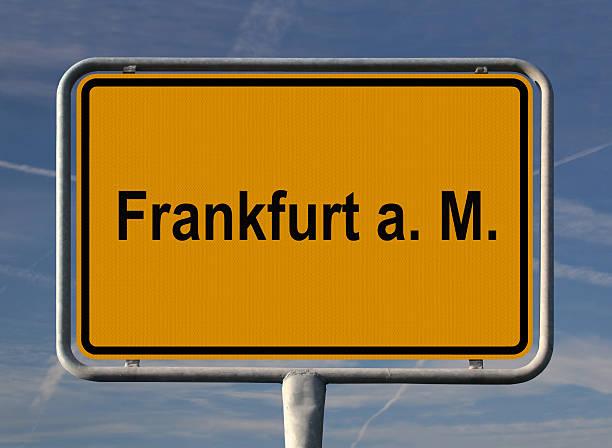 Ortseingangsschild Frankfurt Am Main – Foto