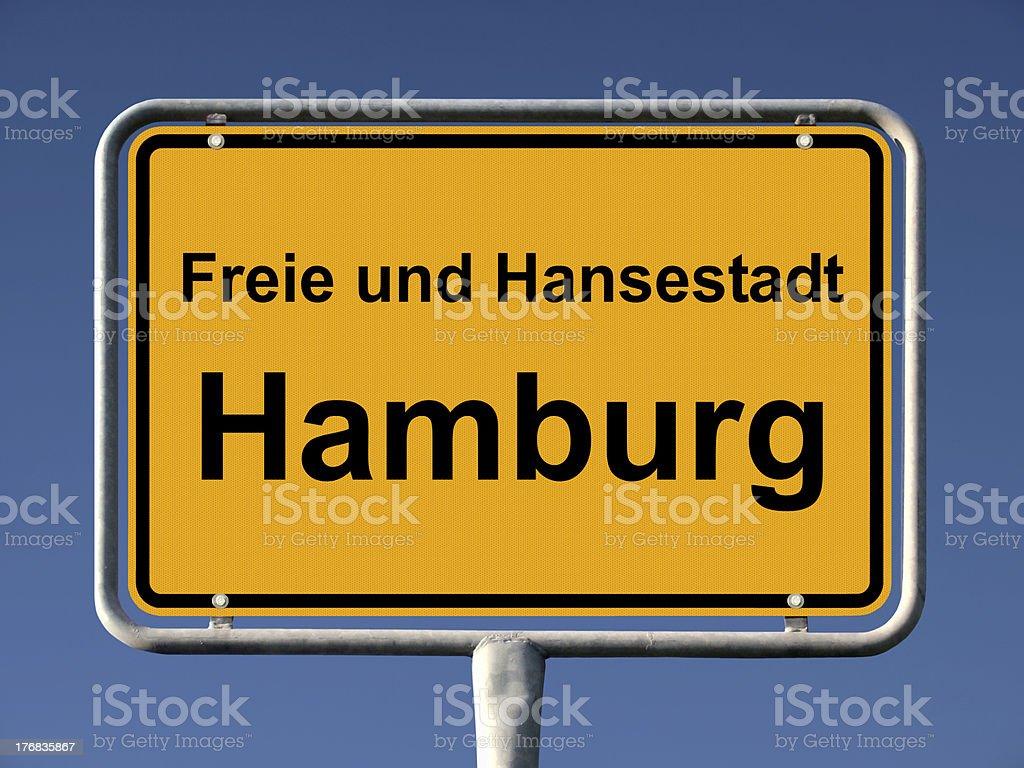 ortsschild freie und hansestadt hamburg stock photo more pictures of advertisement istock