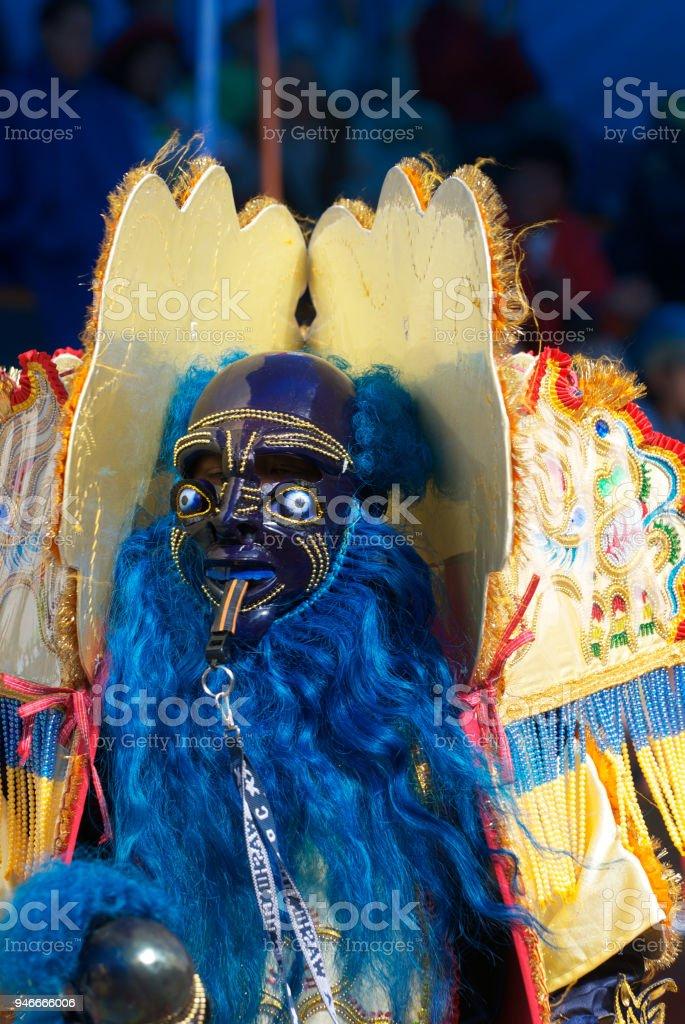 ORURO, BOLIVIA - FEBRUARY 2: Oruro Carnival in Bolivia, declared UNESCO Cultural World Heritage. Febraury 2, 2008 in Oruro, Bolivia stock photo