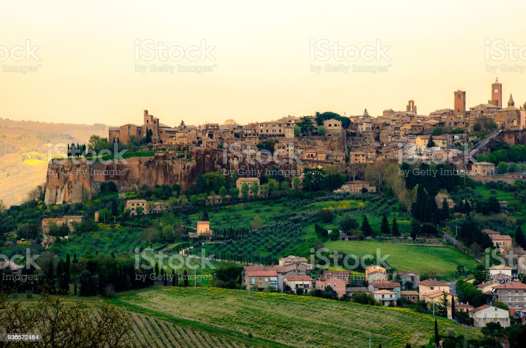Orvieto - Umbria - Italy - Orvieto city host the famous Saint Patrick Well or Pozzo di San Patrizio stock photo