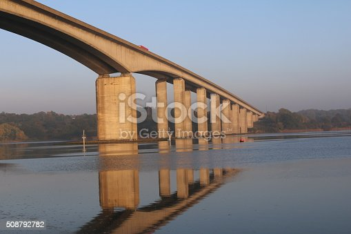 took this shot while walking to find pictures to takes and lovely sunny day so i composed the shot of the orwell bridge