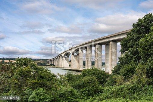 Orwell Bridge in Suffolk England spanning the River Orwell