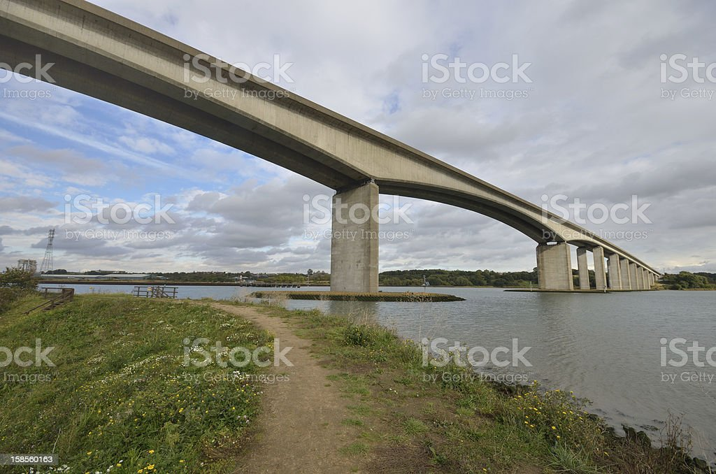 Orwell Bridge with Path royalty-free stock photo