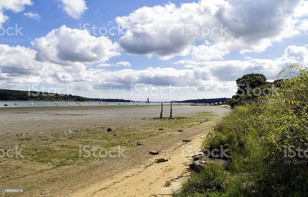 Orwell foreshore at low tide royalty-free stock photo