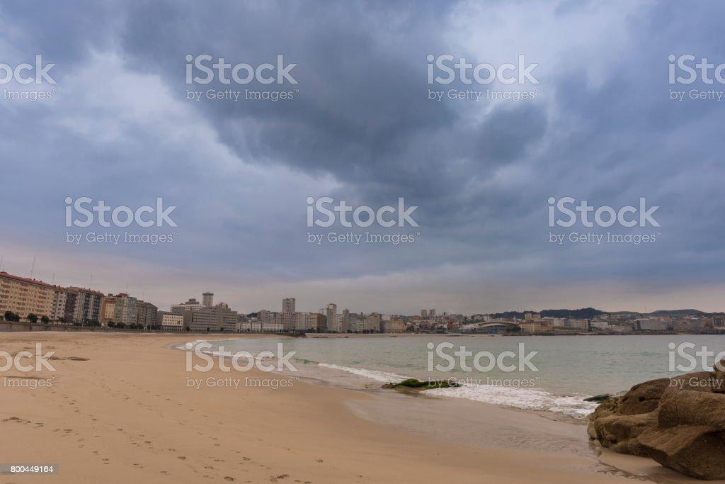 Orzan beach (La Coruna, Spain). stock photo