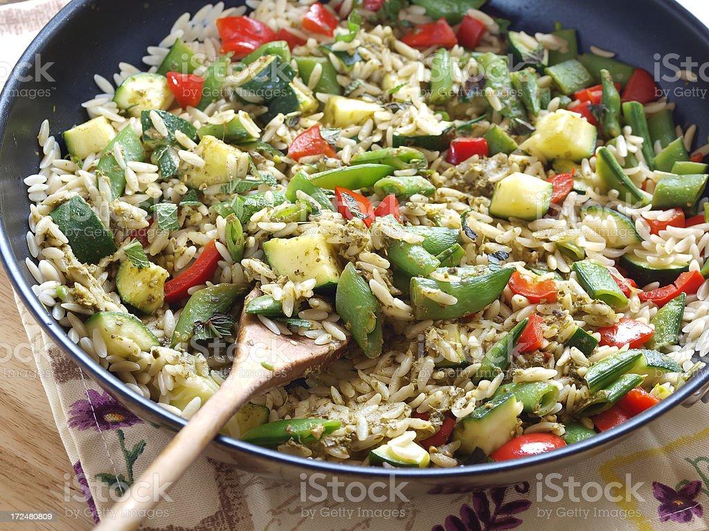 Orzo salad stock photo