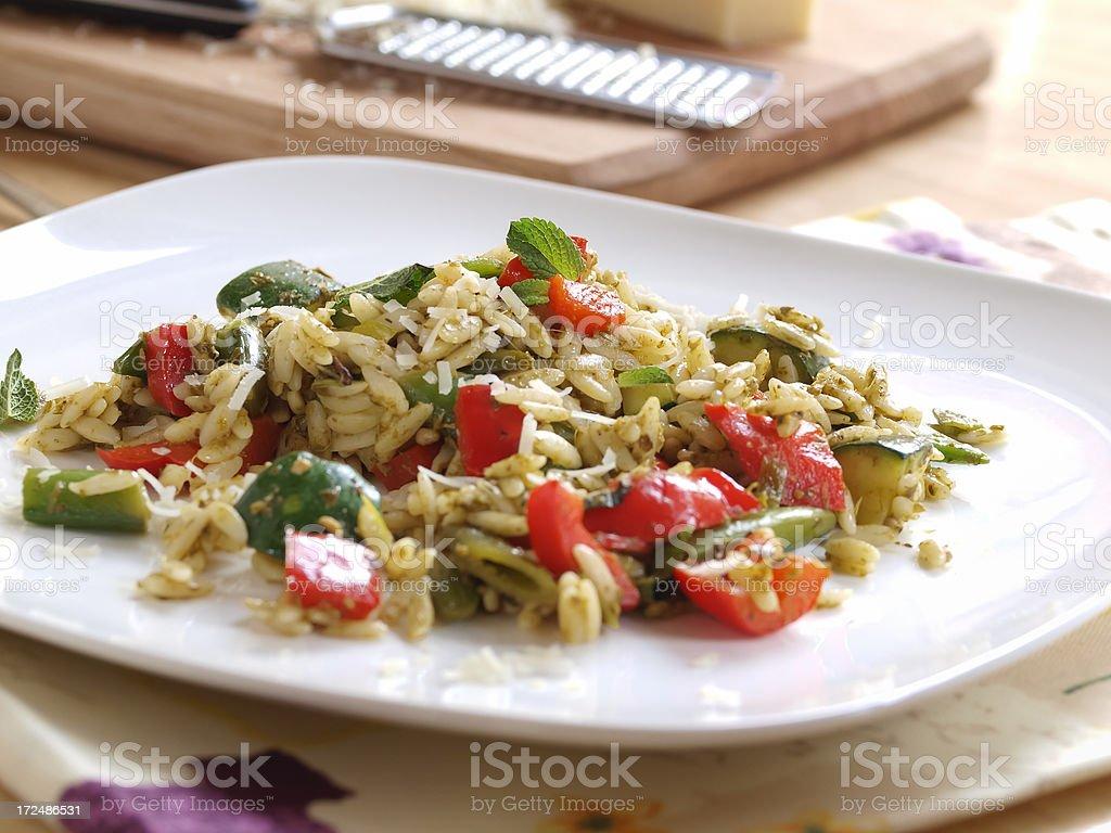 Orzo salad royalty-free stock photo