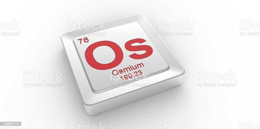 Os Symbol 76 Material For Osmium Chemical Element Stock Photo More